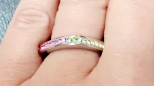 Silver Ring multicolored