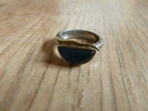 Ring 925 Silber blau 15,5mm 49