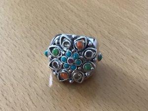 Ring 925 Silber mit Halbedelsteinen