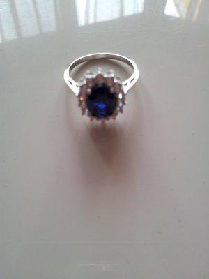 Ring 925 Sterling Silber mit Saphir