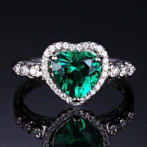 Ring 925 Sterling Silber mit Smaragd