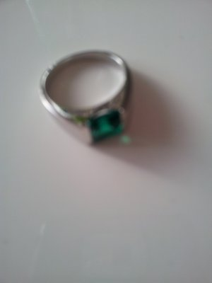 Ring 925 Sterling Silber mit Smaragd *NEU*