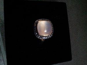 Ring 925 Sterling Silber Mondstein und Spinell