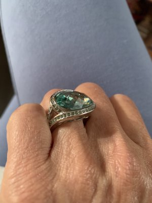Pierre Lang Statement Ring turquoise-silver-colored
