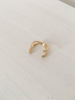 Ring Asos mit Kristallen Gold Vintage Look ausgefallen