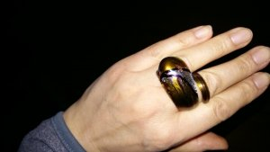 Statement Ring multicolored glas