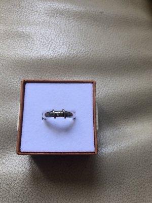 Ring aus Silber und God mit Zirkonia