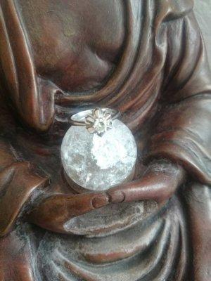 Ring aus Weißgold mit Diamant - Antik