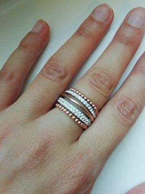 Tchibo / TCM Zilveren ring zilver-roségoud