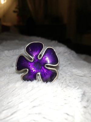 Anello argento-lilla