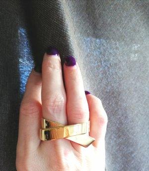 Christian Dior Anillo de cuentas color oro