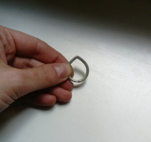 Ring COS Silber Tropfen