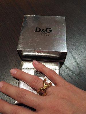 Ring D&G Goldfarben Modeschmuck