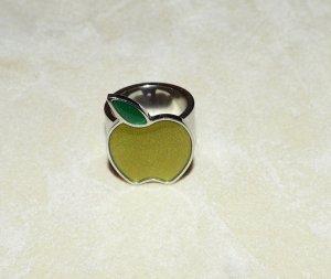 Ring Damen Swatch Apfel silber grün 17,3 mm