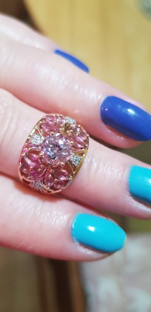 Ring Echt Rosegold 585 Gr 19