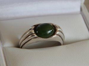 Ring Echtsilber mit Stein aus Jade
