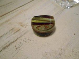 Ring Glasring Herbstfarben Brauntöne Gr. 18mm