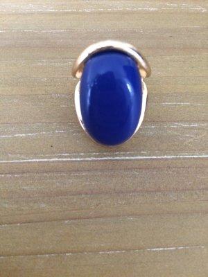 Ring gold/blau