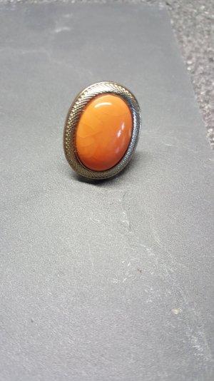 Ring Gold orange Stein gross
