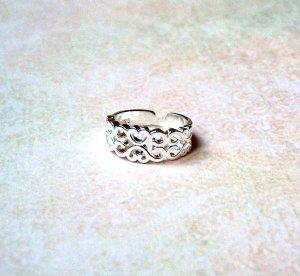 Ring Herzen/Ornamente 925 Sterling Silber