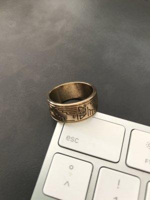 Asos Ring zwart-goud