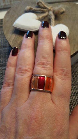 Ring in rot/orange