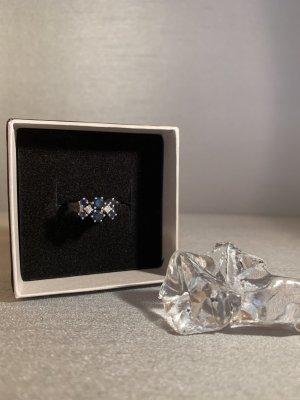 Anello d'oro argento-blu