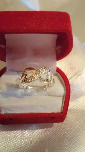 Ring Infinity Silbern 925er Sterling Silber Zirkonia Unendlichkeit Gr.18