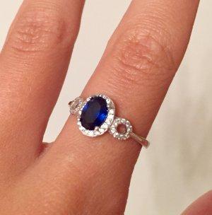 Ring Juwelkerze mit blauem Stein