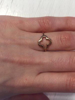 """Ring, """"Kleeblatt"""", golden, von Leaf"""