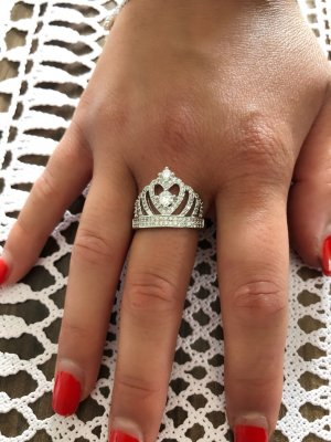 Ring Krone Sterling Silber 925 er Silber prenzessin NEU