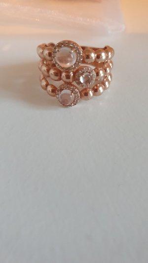 Les petites parisiennes Anello d'argento color oro rosa
