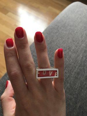 Enjoy Statement ring rood-wit