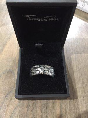 Thomas Sabo Zilveren ring zilver-zwart
