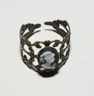 Ring Metall, mit Gemme, Steampunk