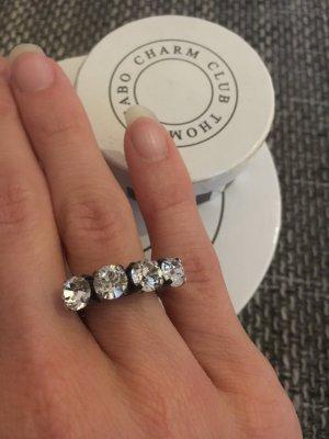 Ring mit 4 Glitzersteinen von Konplott