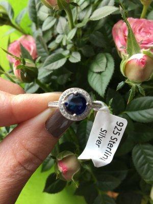 Ring mit Diamanten Größe L (58-60)! NEU!!