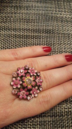 Ring mit Glitzer-Blüte