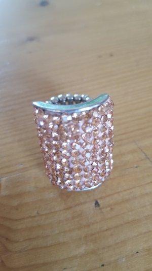 Anello rosa antico-argento