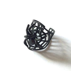 Ring mit Spinne in mattem Schwarz NEU