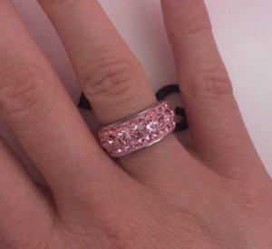 Anello d'argento argento-rosa chiaro