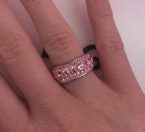 Silver Ring silver-colored-light pink