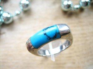 Ring mit Türkis-Stein in 925 Sterling Silber