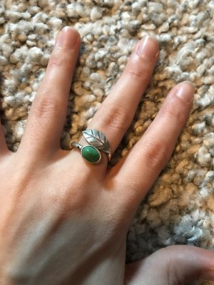 Ring silver-colored-turquoise