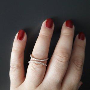 Ring mit Zirconia aus Italien,  gr.  16