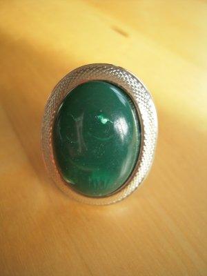 Ring zilver-bos Groen Metaal