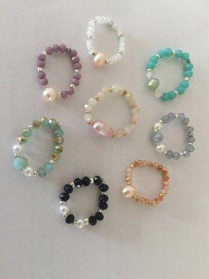 Ring *NEU* (Süßwasser)Perlen facettiert variabel