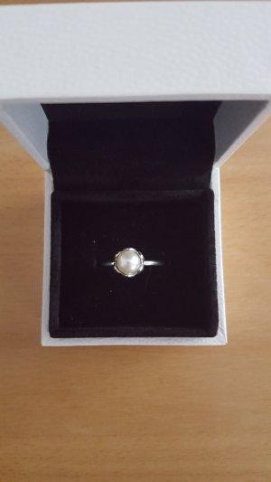 Ring Pandora 925 Silber mit Perle