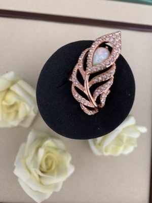 Pierre Lang Gold Ring rose-gold-coloured-baby blue metal