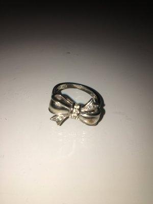 Ring Schleife echt Silber mit Steinchen